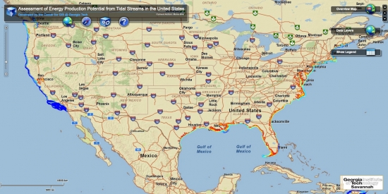 a new interactive map from georgia tech ilrates the energy potential of tidal power in the u s