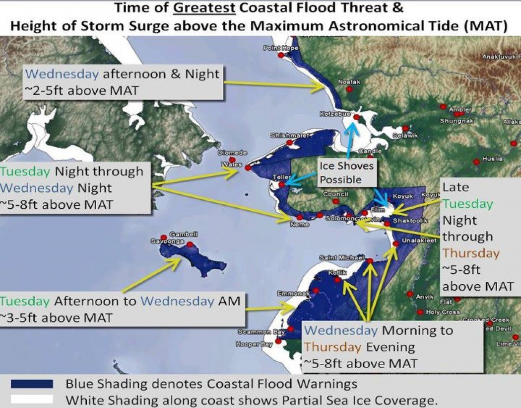 Alaska Superstorm Lashes Villages Already Hit Hard by Climate Change ...
