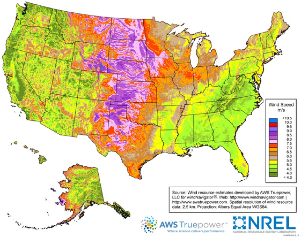 Interactive Powering the Nation with Wind Climate Central