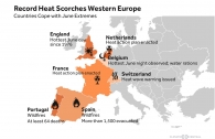 Record June Temperatures in Western Europe
