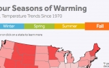 Every State's Temperature Trend for Every Season