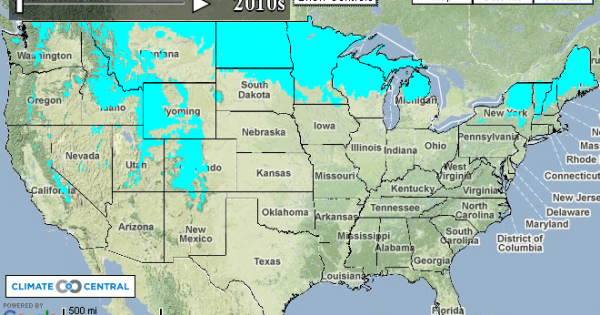 The Future Of Freezing Climate Central - Us climate overlays google maps