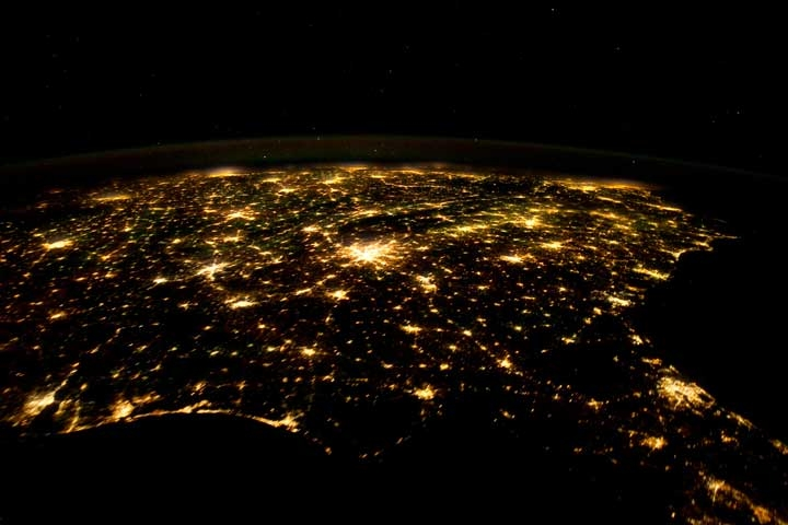 Image Of The Day Southeast U S Lights Up The Night Sky