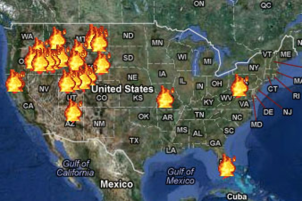The Age Of Western Wildfires Climate Central - Us wildfire map