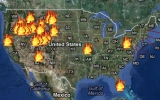 Interactive Wildfire Map Shows Outbreaks in Real-Time
