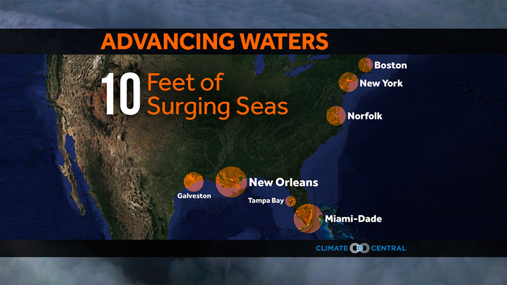 Storm Surge And Sea Level Rise Advancing Waters