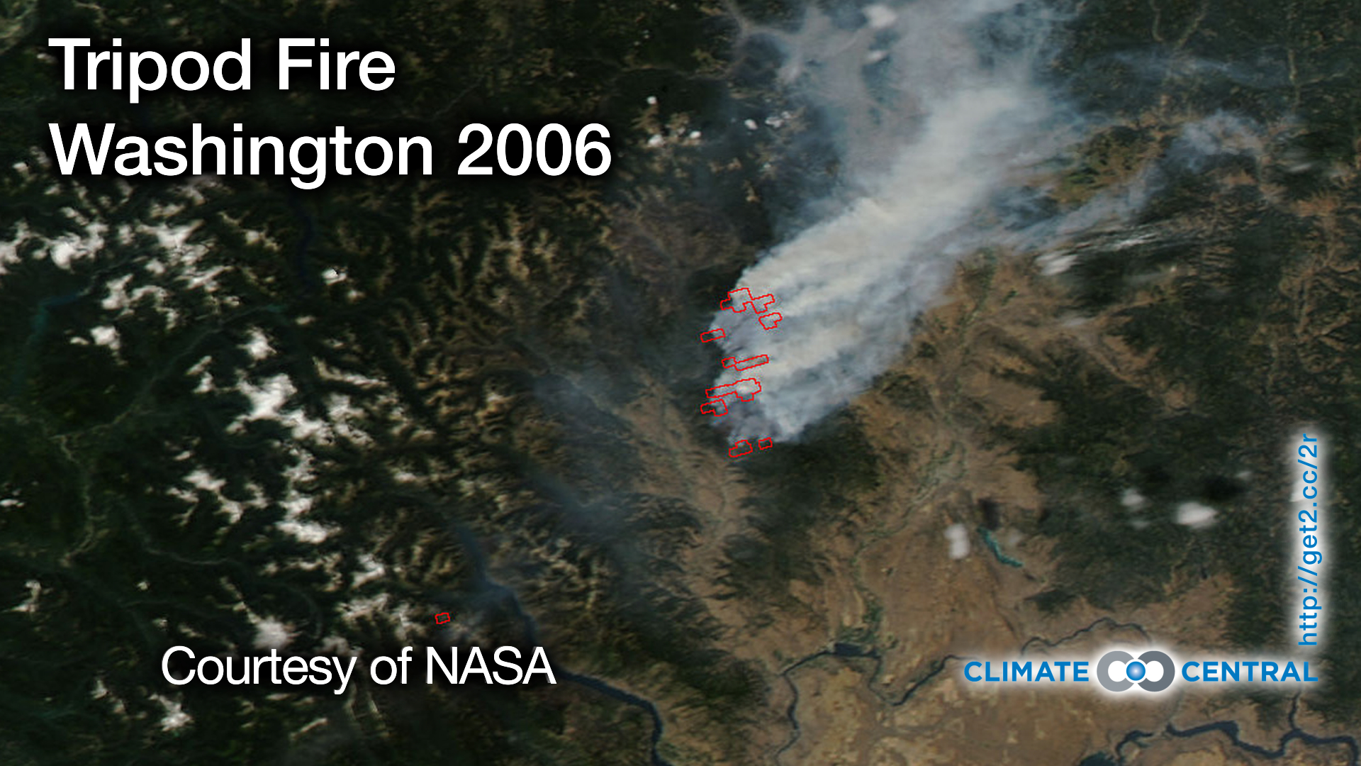 Tripod Fire Satellite View Climate Central