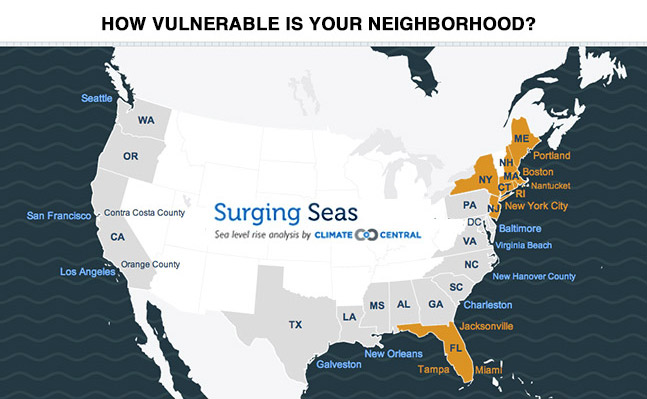 Click On The Image Above To Check For Threats From Sea Level Rise And Storm Surge