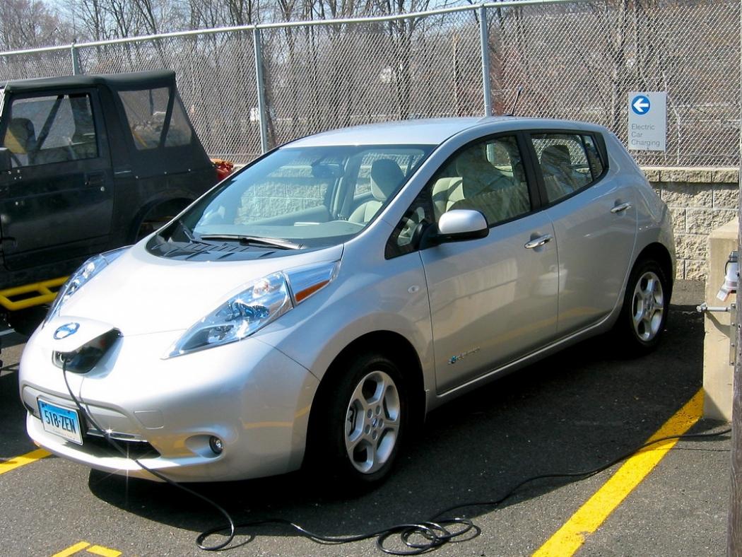 A Nissan Leaf Recharging In Connecticut Credit Paul Cooper Flickr
