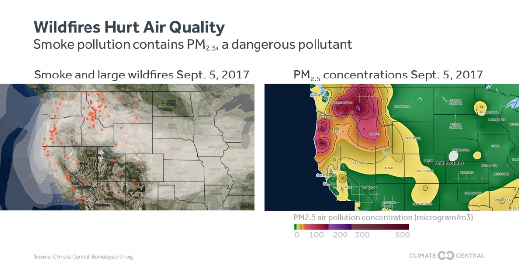 Western Wildfires Undermining Progress on Air Pollution | Climate