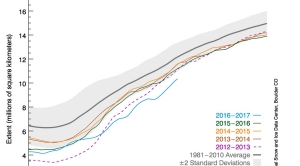 Arctic Sea Ice Sees Strange Cold Season Retreat