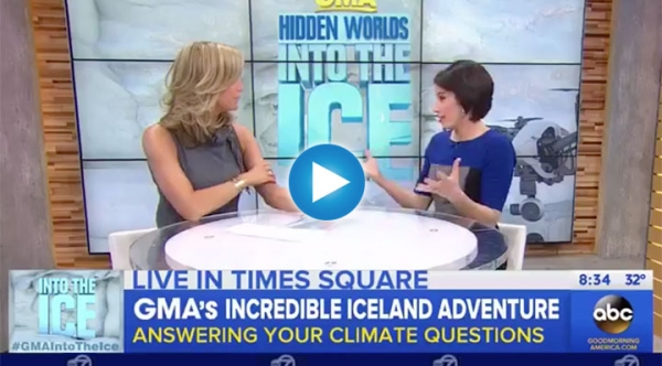 Placky Talks Glacial Melt and Climate on GMA