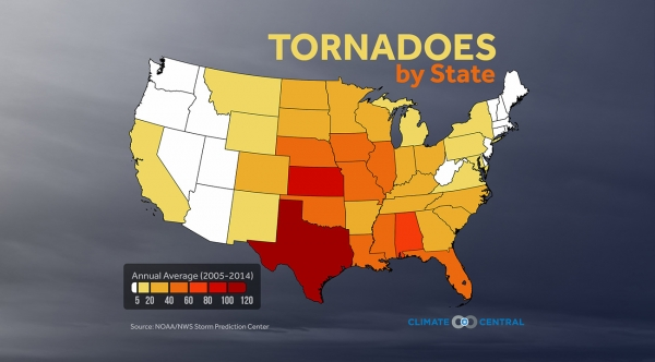 Tornadoes by State