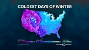 The Coldest Days of Winter in One Map