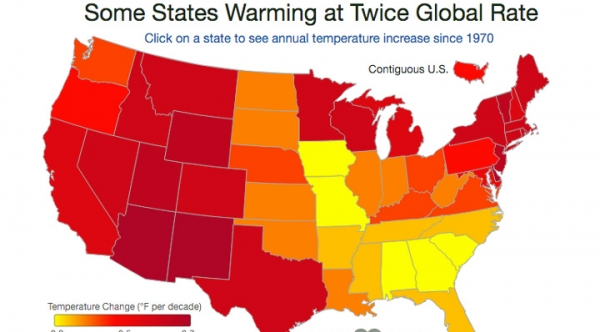 The U.S. Has Been Warming Fast Since The First Earth Day