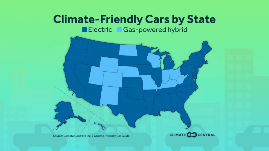 Climate Friendly Cars By State
