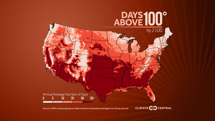 Days Above 100°F: Projections