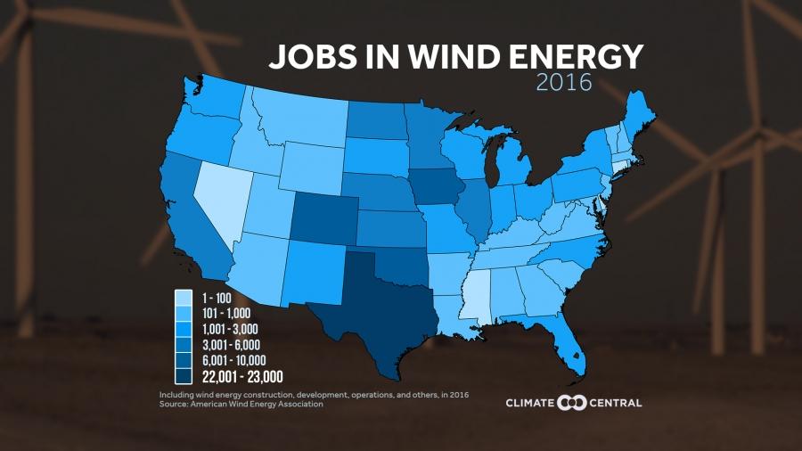 Jobs in Wind Energy in 2016