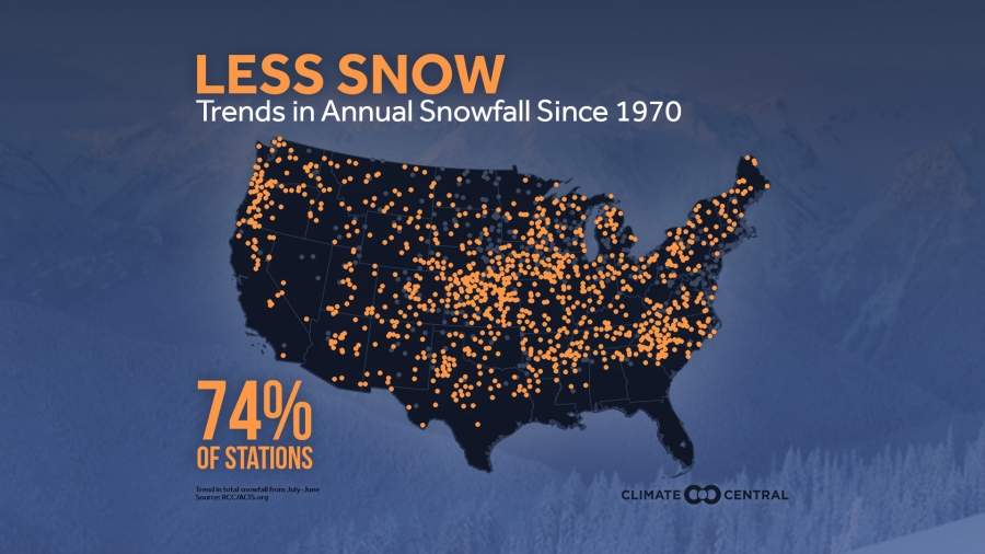 These U.S. Cities Are Getting More (and Less) Snow
