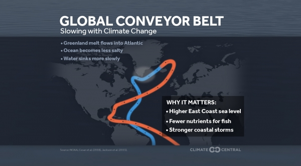 Global Conveyer Belt: Ocean Current Slowing