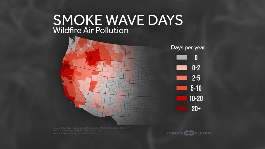 Smoke Wave Days in the Western U.S.