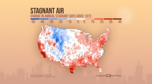 Nationwide Trends in Air Stagnation Since 1973