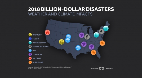2018's Billion-Dollar Disasters Show Weather & Climate Impacts Across the U.S.