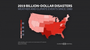 2019 Billion Dollar Disasters: Weather and Climate Impacts by State Map