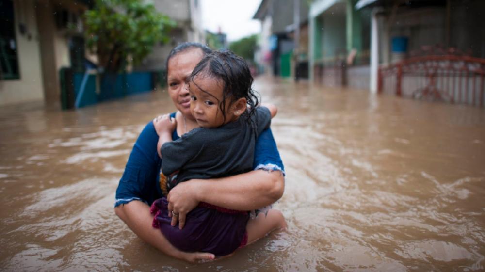 Inundações em Jacarta, Indonésia, fevereiro de 2017