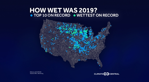 How wet was 2019? Records Across the Country