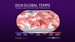 Global map of temperature anomalies