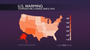 U.S. Warming By State