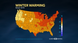 Winter Warming - National Climate Divisions