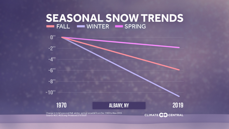 2020 Local Snow Trends by Season