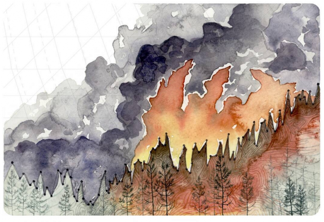 These Paintings Turn Climate Data Into Art Climate Central