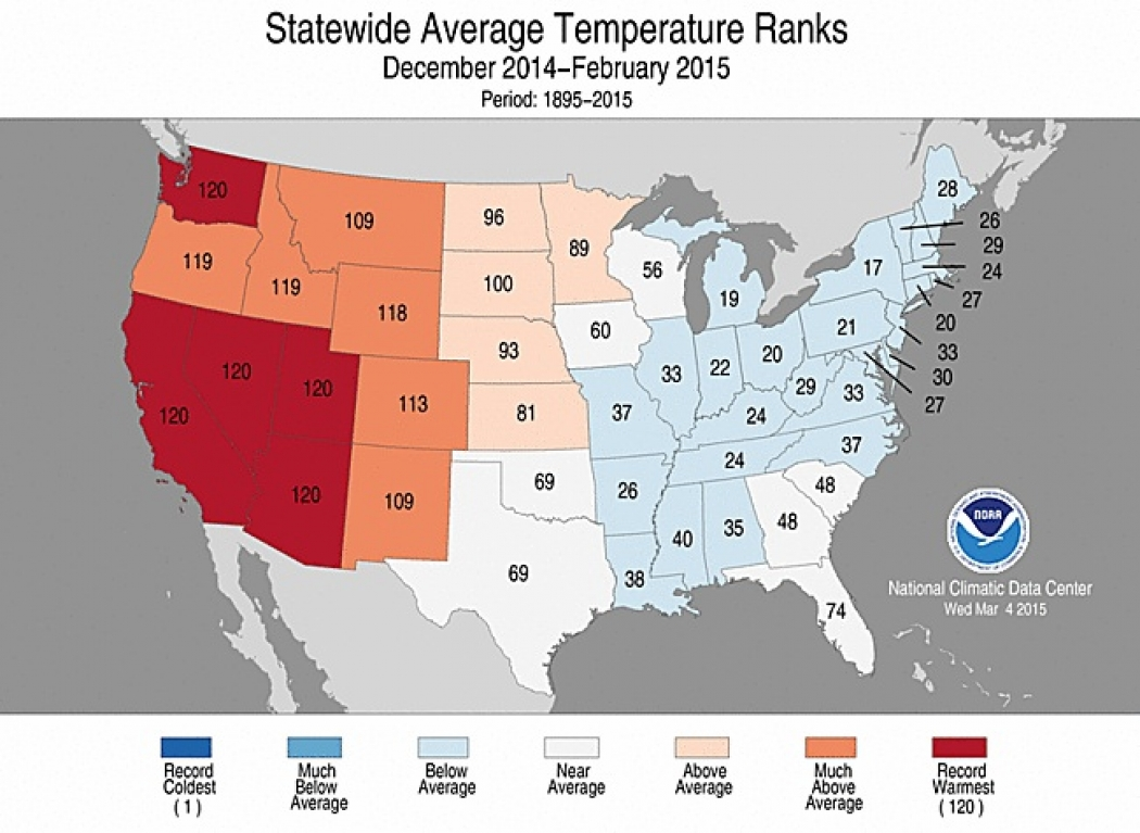 Once Again, A Record-Hot Winter for California   Climate Central on