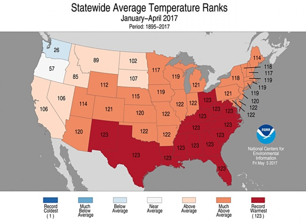 Andrea Thompson Hot swath of states experiencing hottest year to date | climate