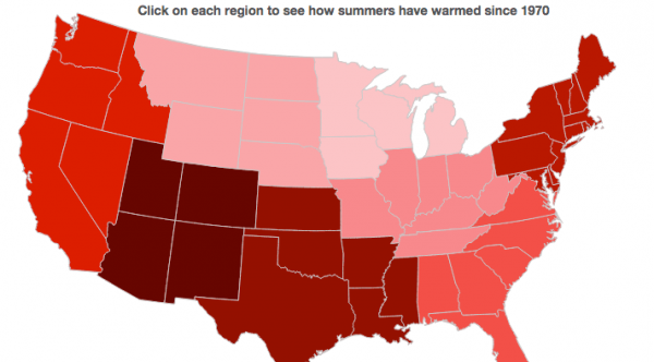 U.S. Summers Bringing More and More Heat