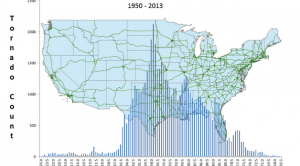 A New Spin on Mapping U.S. Tornado Touchdowns