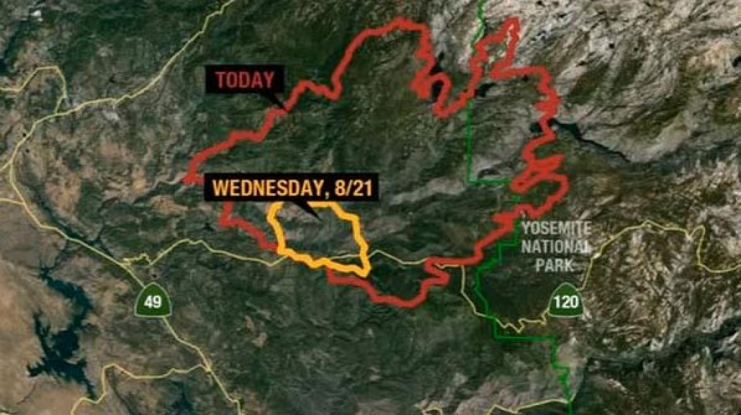 Yosemite Fire Example of How Droughts Amplify Wildfires