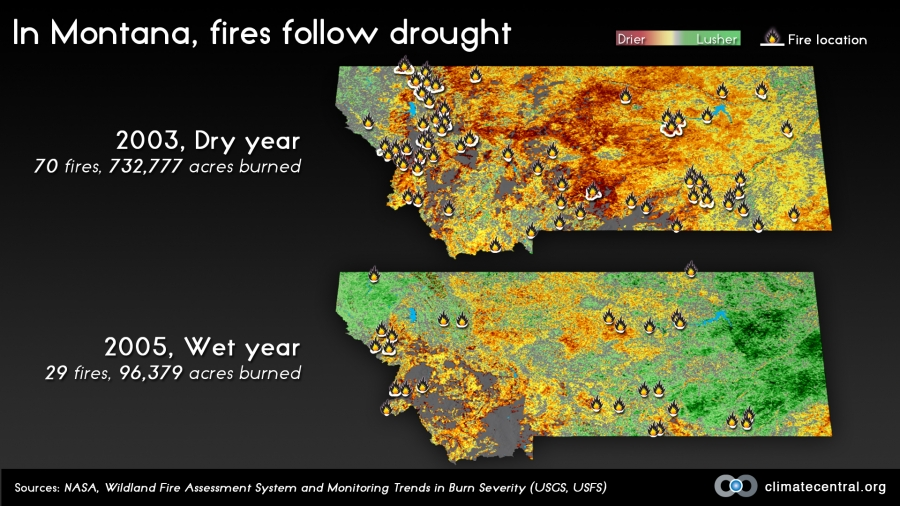 In Montana, Fires Follow Drought