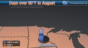 Minneapolis: August Days over 90 Degrees