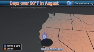 San Francisco: August Days over 90 Degrees