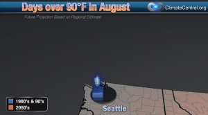 Seattle: August Days over 90 Degrees