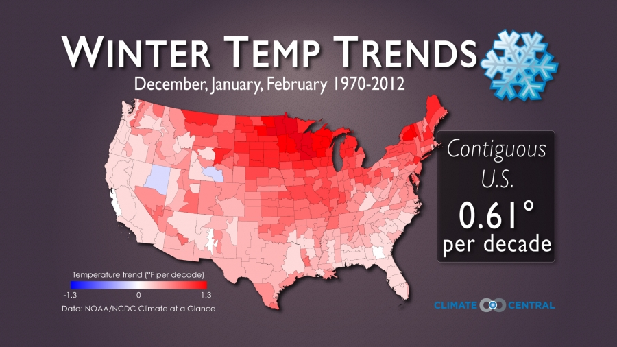 Winter Temperature Trends