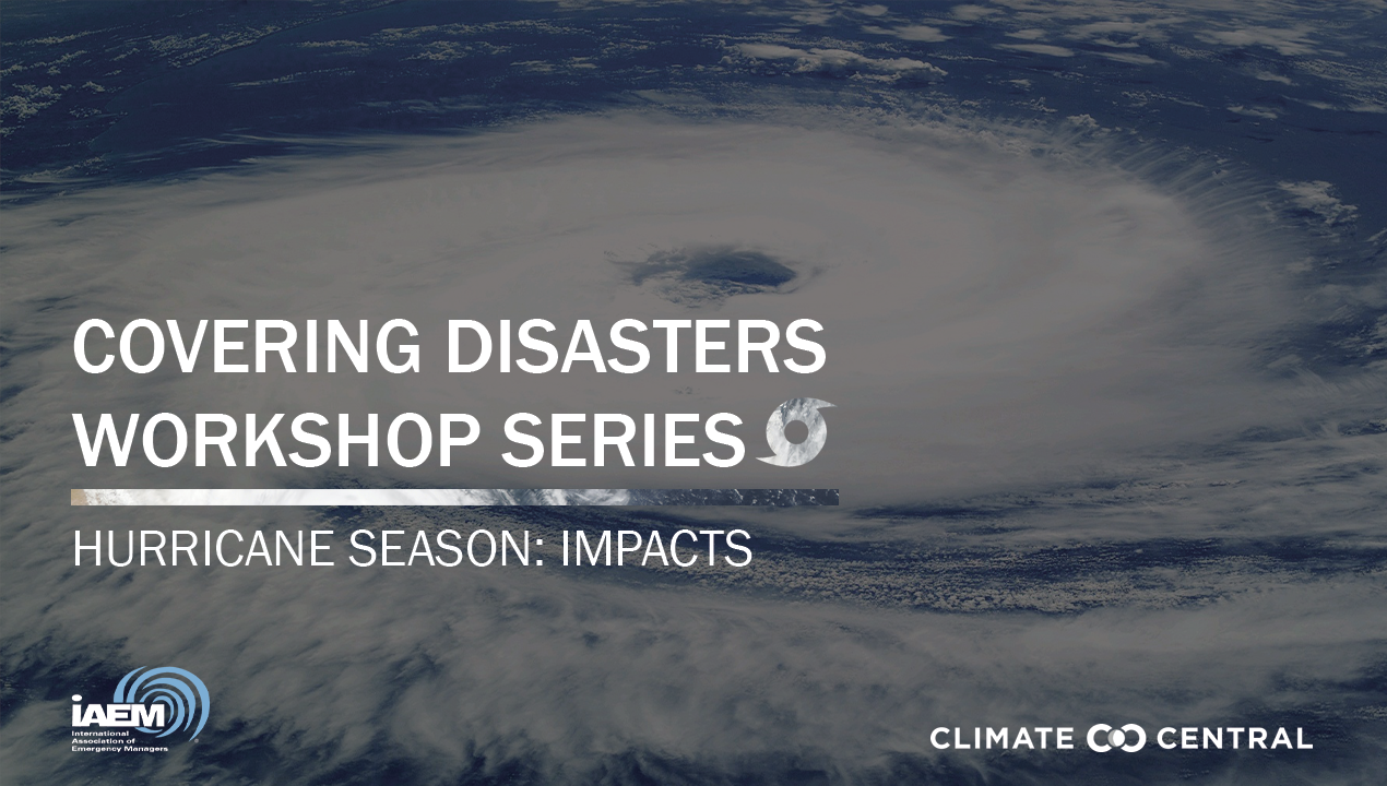 Rapid Response Workshop: Hurricane Season - Impacts