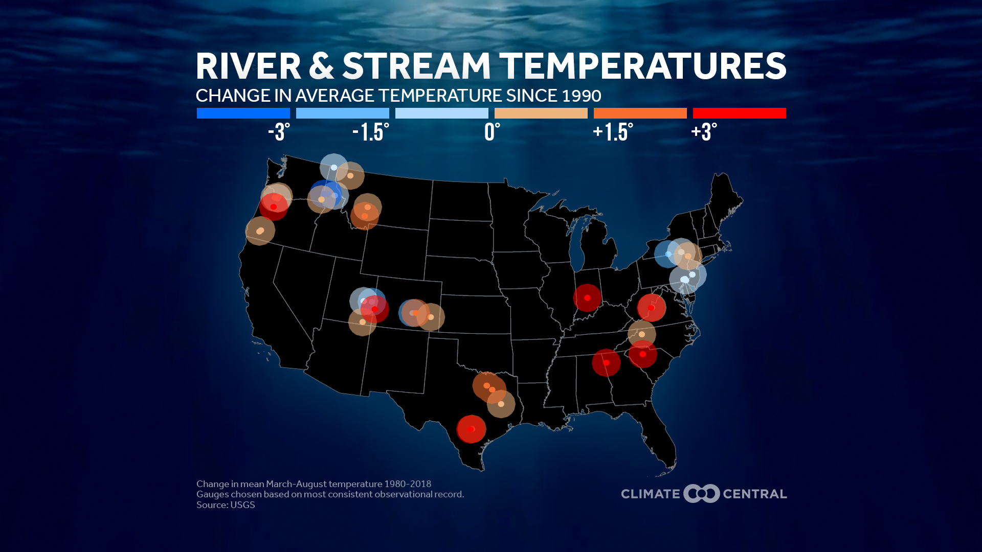 River and Stream Temperature Trends Around the U.S.
