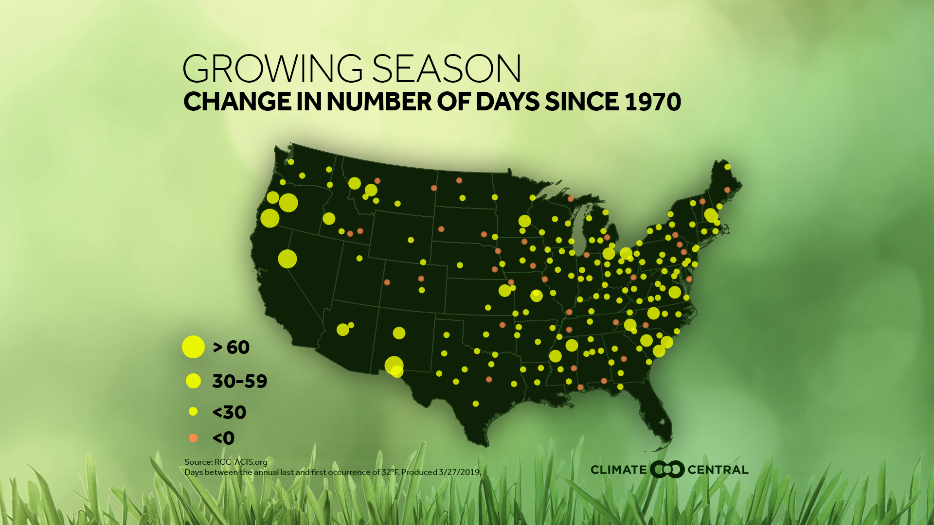 The Changing Growing Season Around the U.S.