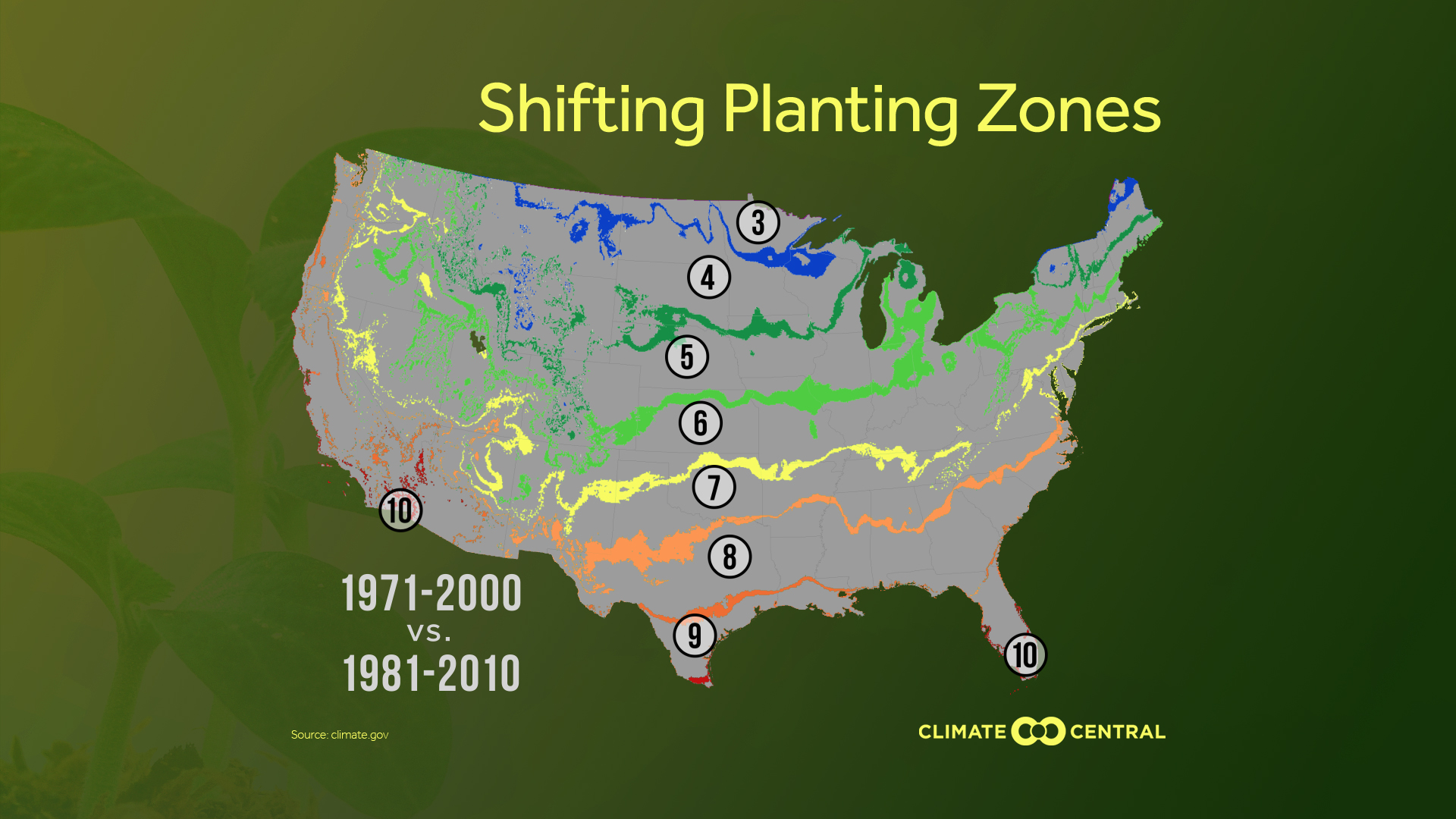 Planting Zones Moving North | Climate Central