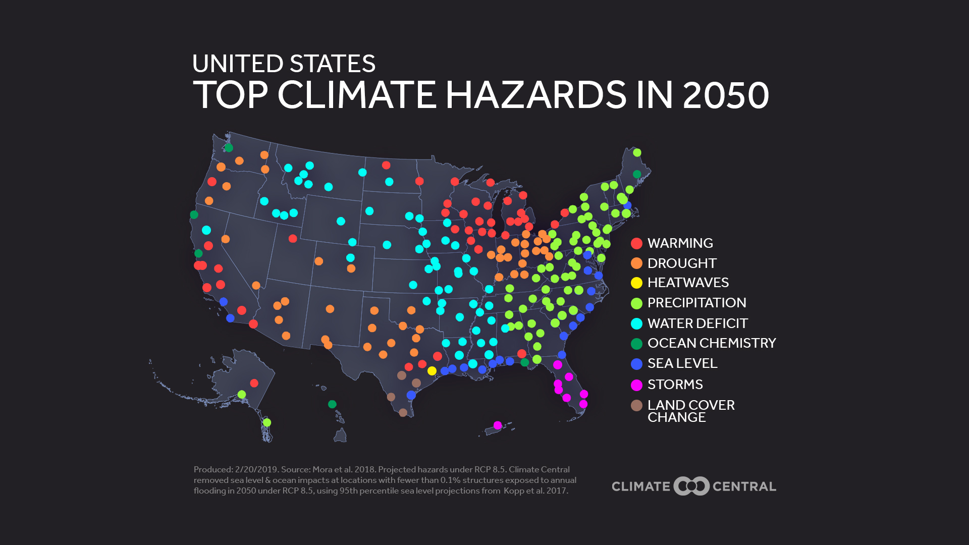 Top Climate Hazards in 2050